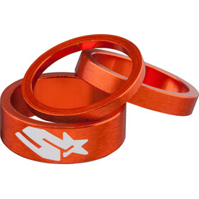 Spank Headset Spacer Kit tres unidades, orange